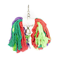COLORFUL COTTON ROPE SWING WITH BELL